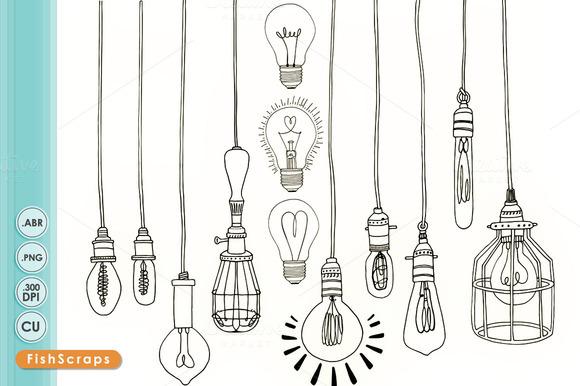 Retro clipart lightbulb #3