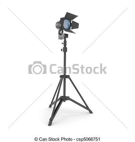 Actor clipart studio light Clipart 3d  with csp5066751