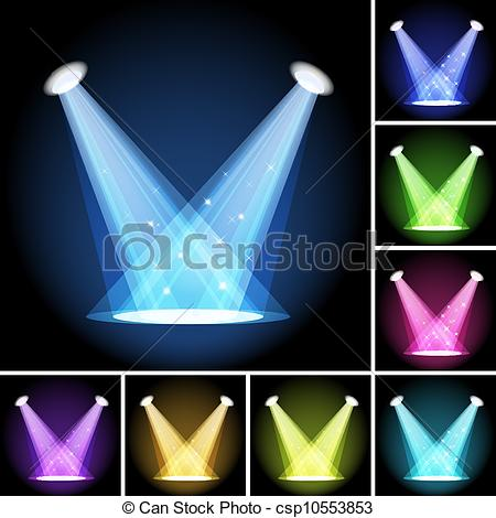 Lights clipart stage lighting #4