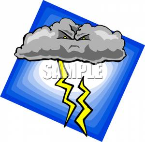 Lightening clipart angry cloud Cloud Angry with Cloud Lightning