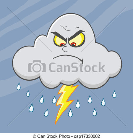 Lightening clipart angry cloud With Cloud Lightning Angry csp17330002