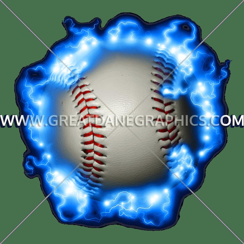 Lightening clipart baseball Shirt for Lightning  Production