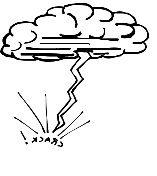 Clouds clipart lightning bolt White bolt clipart clipart collection