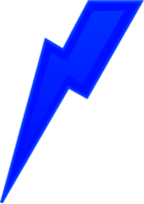 Lightening clipart blue lightning Art Bolt lightning Clip Free