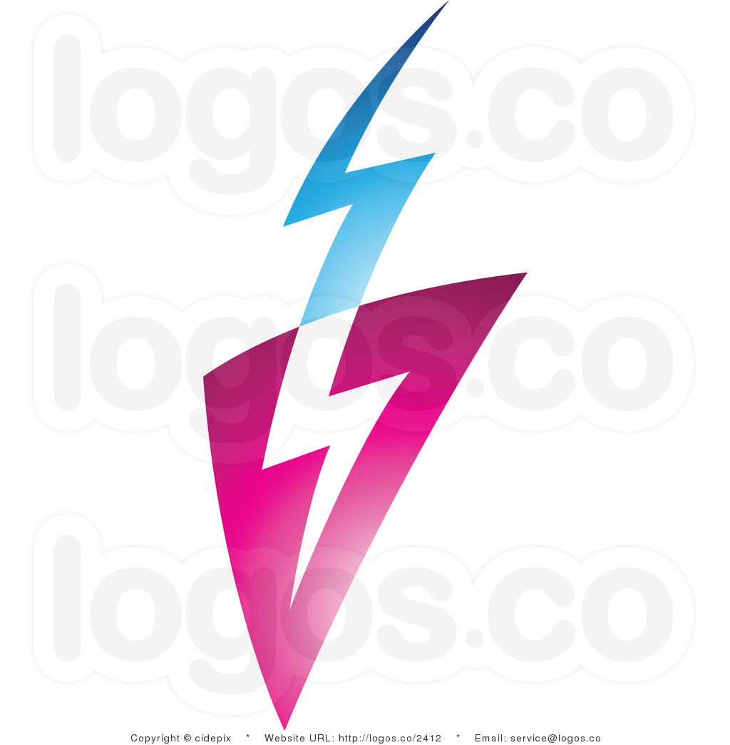Lightening clipart blue lightning  Download library Blue Bolt