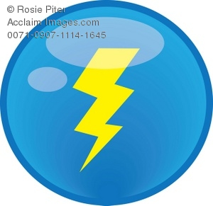 Lightening clipart blue lightning A Illustration Yellow Clip Illustration