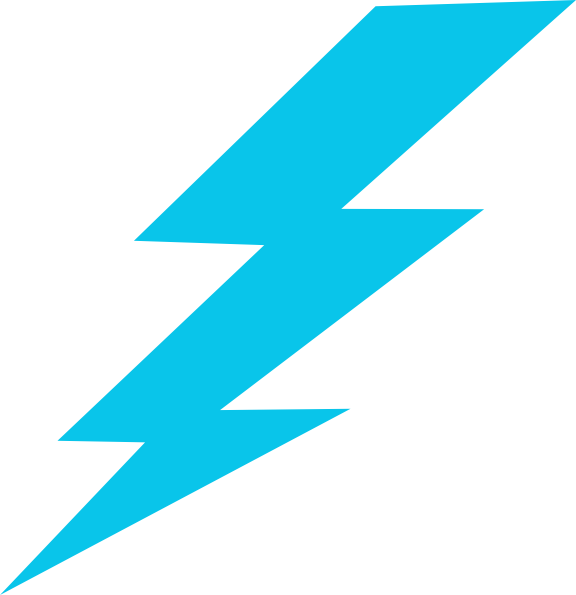 Lightening clipart blue lightning Image art online Art
