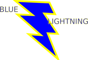 Lightening clipart blue lightning Art Clip Blue Gold Quality