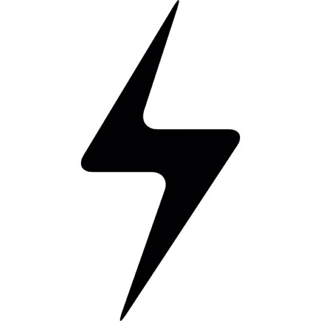 Lightening clipart bold Lightning symbol Free PSD bolt