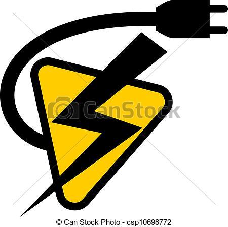 Lightening clipart electrical power symbol  Vectors Electric Creative symbol