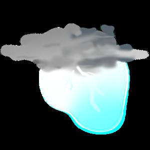 Lightening clipart grey cloud  royalty at com Clip
