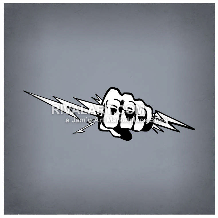 Lightening clipart angry cloud Vector Hand A Graphic Holding