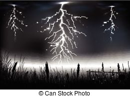 Lightening clipart lightning storm Lightning Vector with a Clip