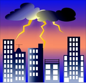 Lightening clipart lightning storm Free Storm Art Art clipart