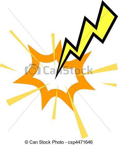 Lightening clipart lightning strike Lightning A strike Clip Vector