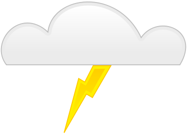 Clouds clipart lightning bolt Art Lightning Domain Free images