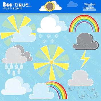 Lightening clipart rain cloud Weather Clipart Weather Art Weather
