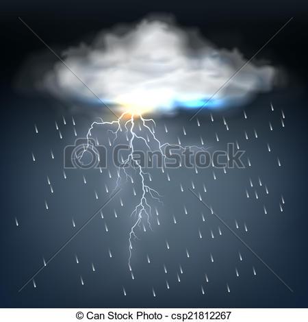 Lightening clipart rain cloud A Clip Cloud bolt with