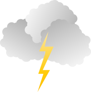 Lightening clipart rain cloud And Clker at clip Clip