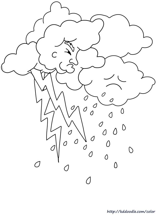 Lightening clipart rain cloud  cloud lightning rain