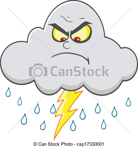 Lightening clipart rain cloud Csp17330001 Cloud Angry And Lightning