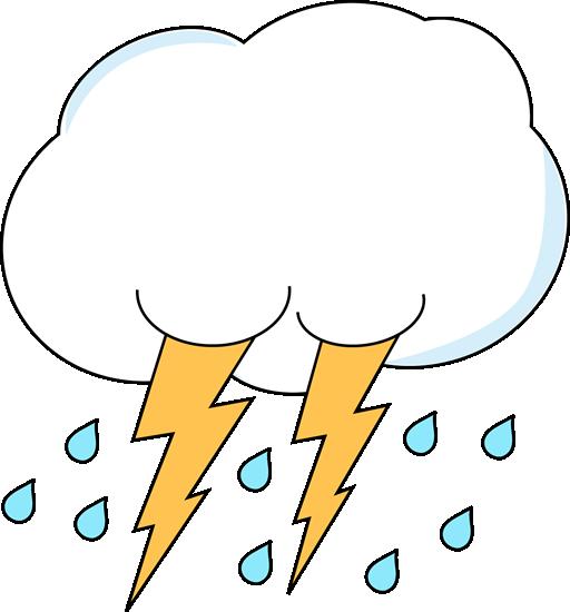 Lightening clipart rain cloud Lightning Clip Lightning Rain Cloud