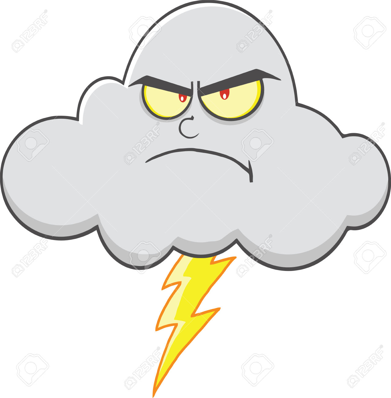 Anger clipart smoke Cliparts Cloud Lightning Angry Clipart