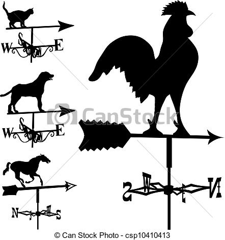 Lightening clipart silhouette Weathervanes and lightning Weathervanes vector