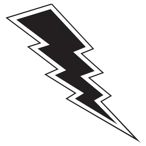 Lightening clipart silhouette  43 Bolt Bolt Lightning