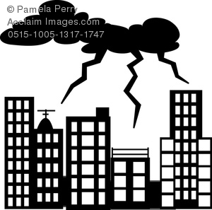 Lightening clipart silhouette Being Clip Art Image of