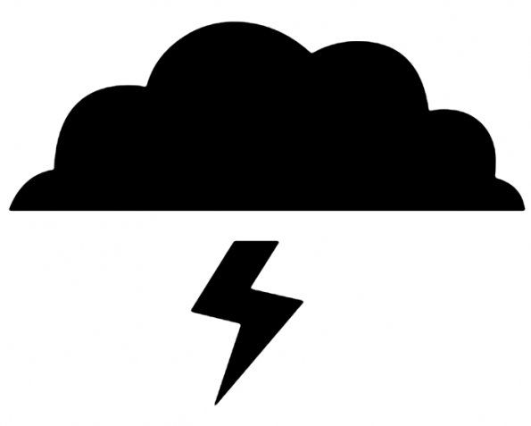 Lightening clipart silhouette Art cloud with lightning Art