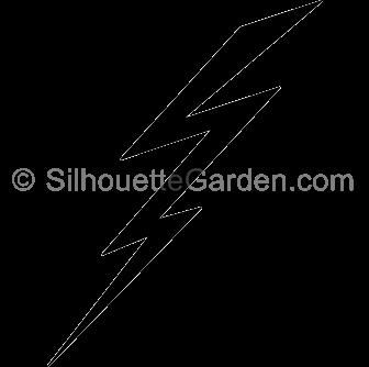 Lightening clipart silhouette Lightning Bolt Bolt Silhouette Silhouette