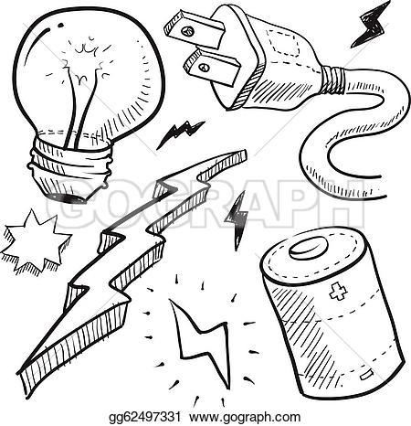Lightening clipart sketch Sketch Art electricity Electricity