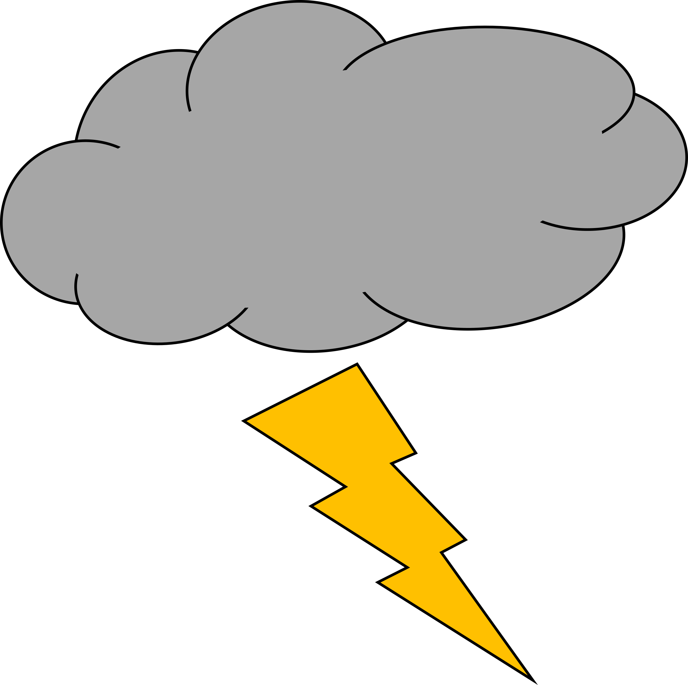 Lightening clipart sketch And Thunder and Clipart Thunder