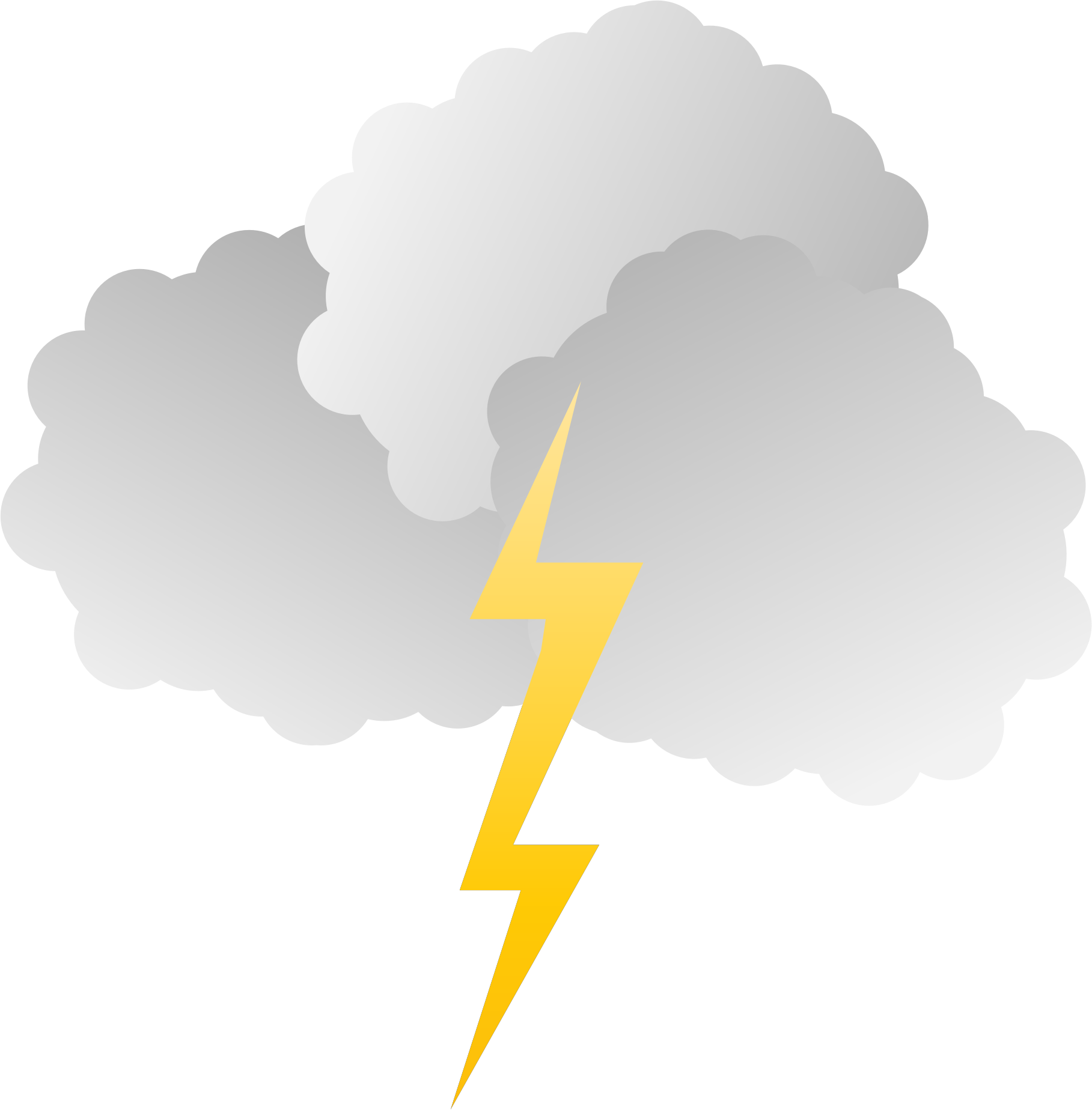 Lightening clipart storm cloud Clipart Clouds and and Clouds