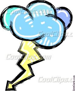 Lightening clipart storm cloud Lightning bolt with storm cloud