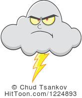 Lightening clipart storm cloud Cloud Mascot Vector  Larger