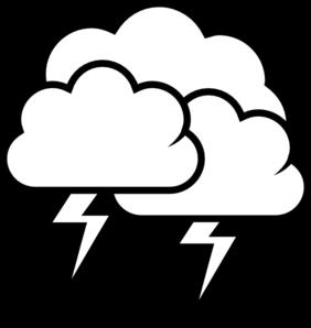 Lightening clipart storm cloud Black And Lightning White Lightning