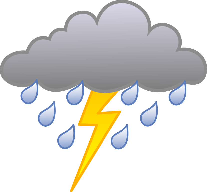 Thunder clipart cute Best Cloud ⋆ ClipartView Rainy