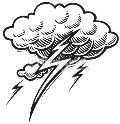 Thunderstorm clipart black and white Lightning Art Free Black Art
