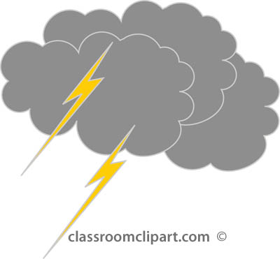 Thunderstorm clipart grey cloud Clip Clip Weather Images Lightning