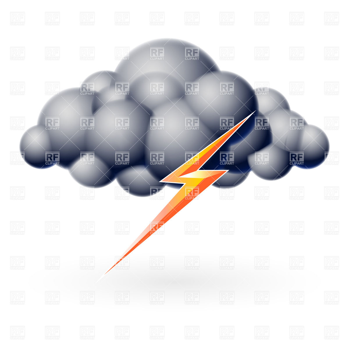 Thunder clipart icon FreeClipart Free Clouds pw Thunder