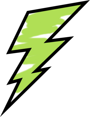 Painting clipart green Lightning Painted Green Images Bolt