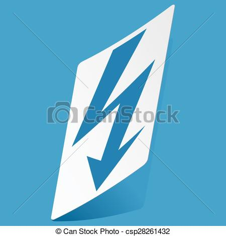 Lightening clipart voltage Sticker Voltage  sticker Vector
