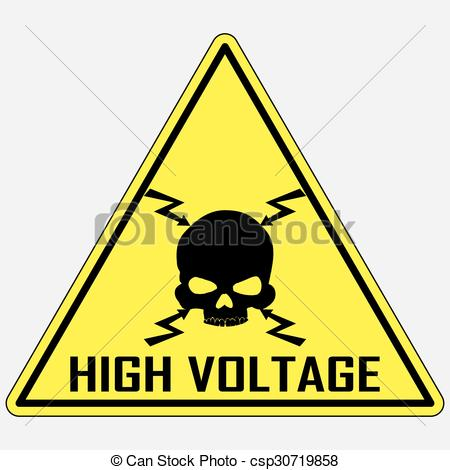 Lightening clipart voltage Of Clipart High Danger Sign