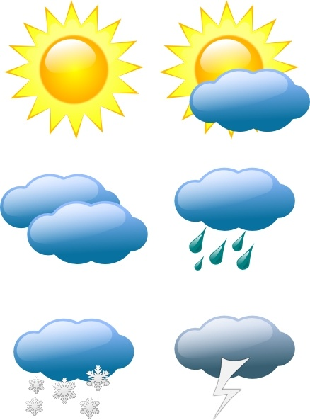 Thunder clipart weather symbol Clip Symbols Weather Weather in