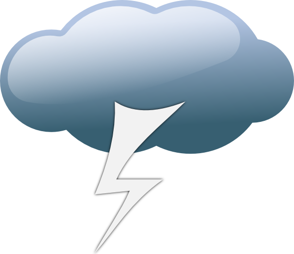 Thunder clipart weather symbol Symbols this Download Thunderstorm Clker
