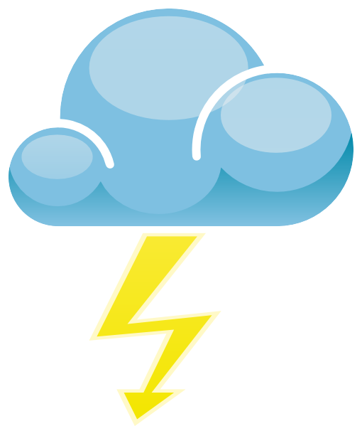 Thunder clipart weather symbol Clip this Download Lightning com