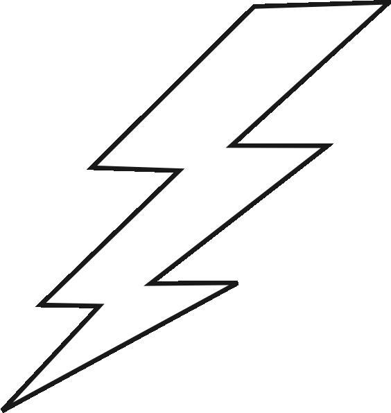 Lightening clipart white background Art  this vector image