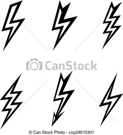 Lightening clipart white background White  background vector silhouettes